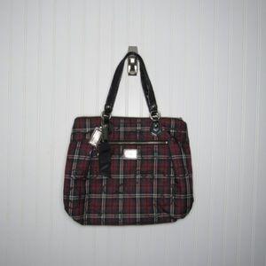 Coach | Poppy Glam Red Tartan Plaid Tote Bag